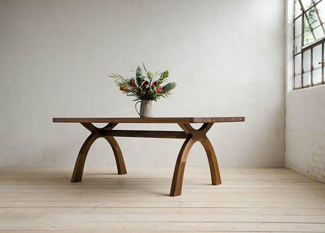 INYO DINING TABLE • Natural Walnut Finish • Size Small
