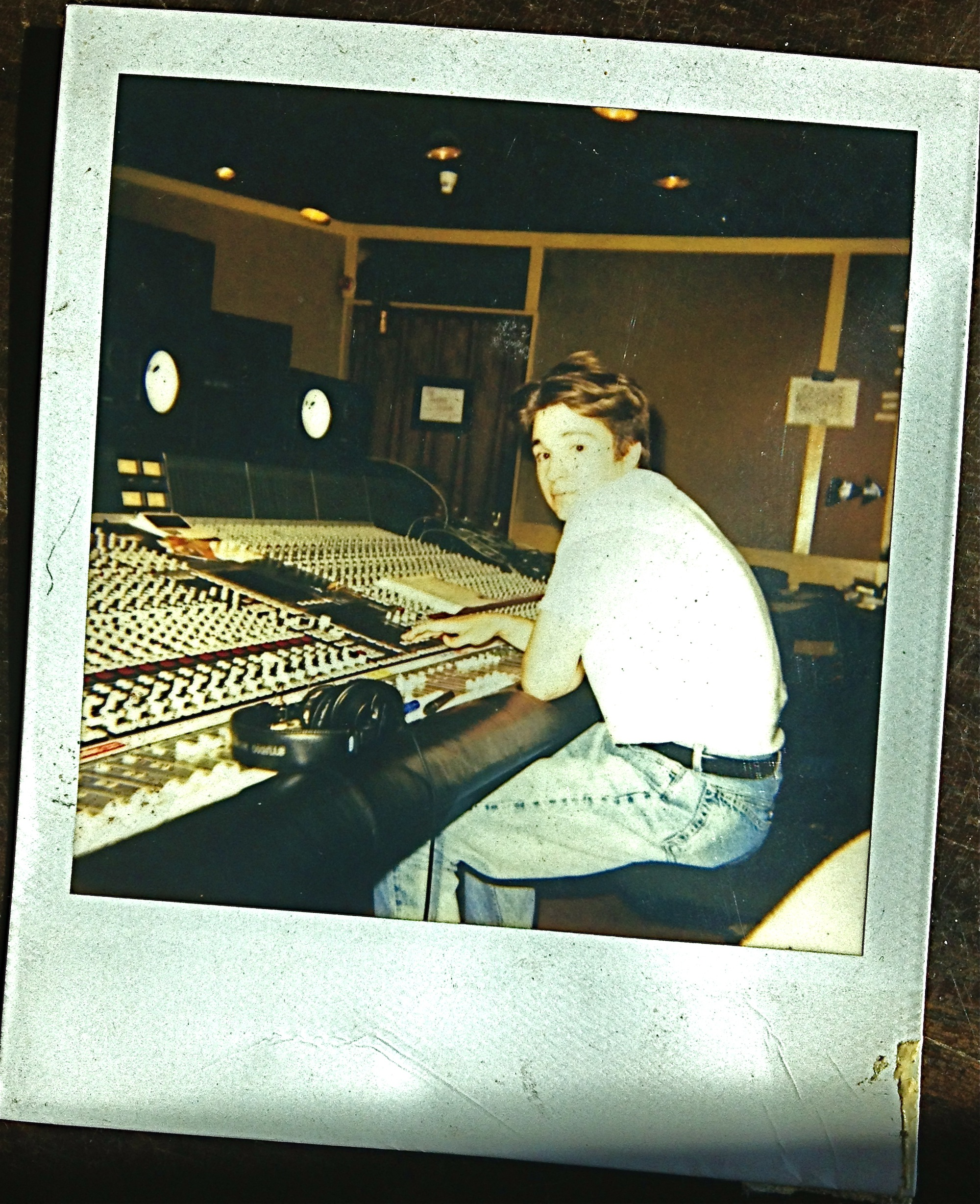 A young Ron at Mayfair Studios, London, England. Producing and engineering The Interpreters (RCA) album.