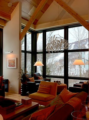 2011 HGTV Dream Home in Stowe, VT - Living Room to Mt. Mansfield
