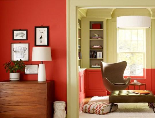 Pantone's Tangerine Tango Sitting Room