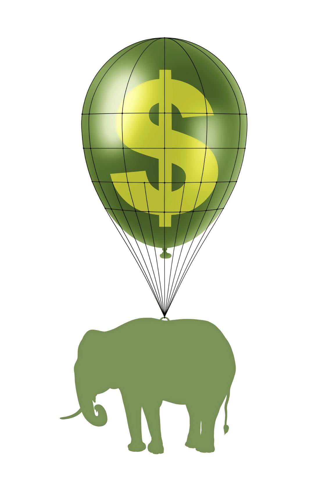 dollar power and elephant