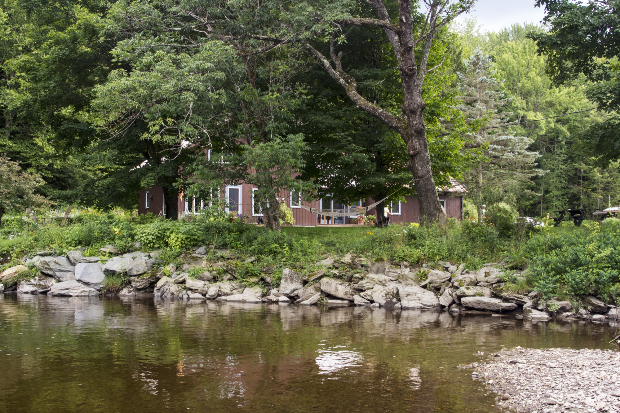 The most private setting anywhere along the North Branch of the Lamoille River
