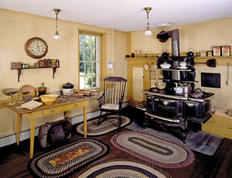 Castle Tucker in Wicasset, Maine, is an 1807 museum house preserved to show its appearance in the late 19th century, courtesy of Old House Online.