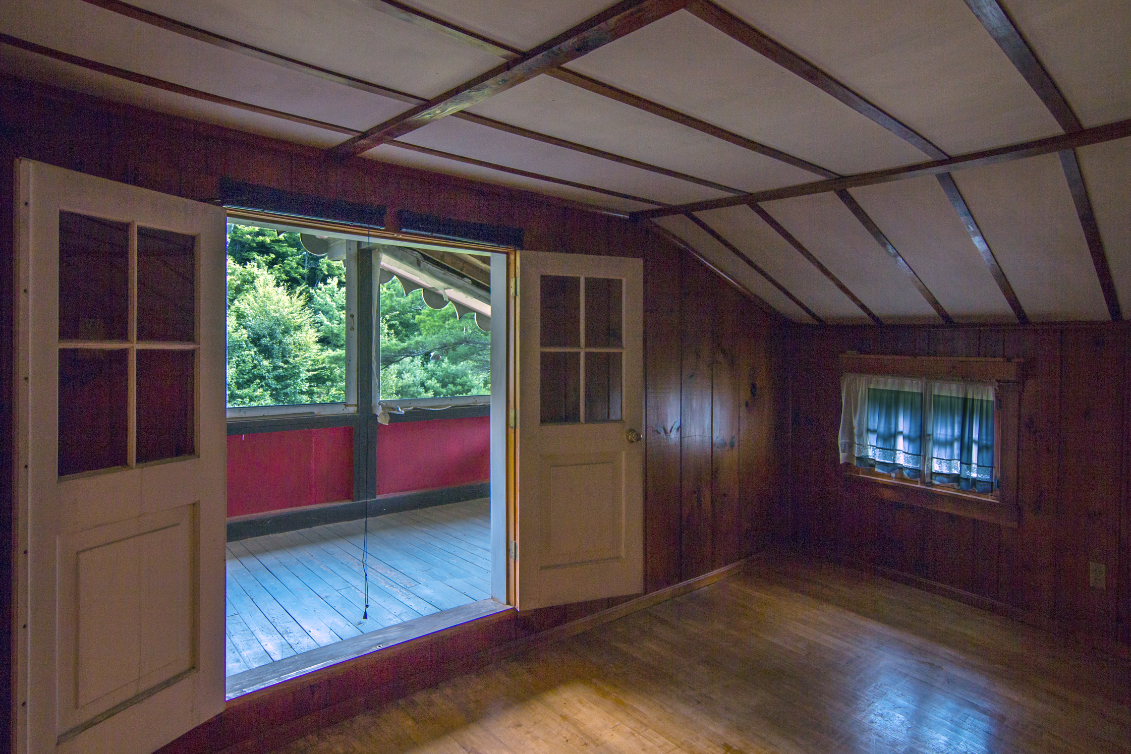 Master bedroom with its own sleeping porch