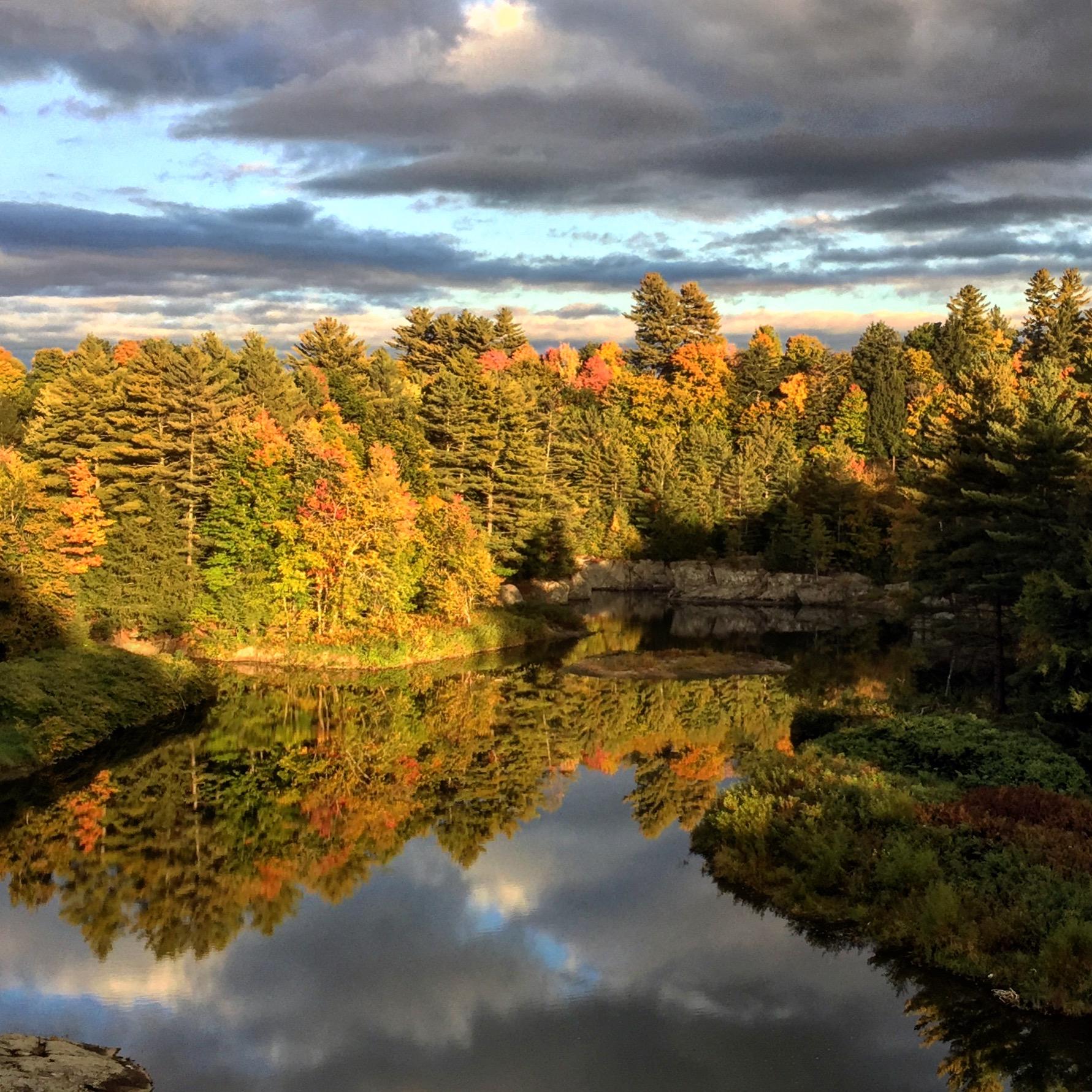 28-Autumn Light on Lake Lamoille, Instagram Square
