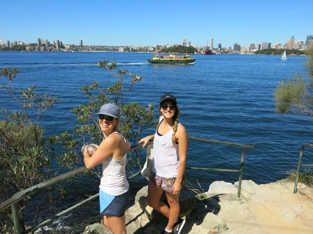 My mates Eb and Briar in Cremorne Point