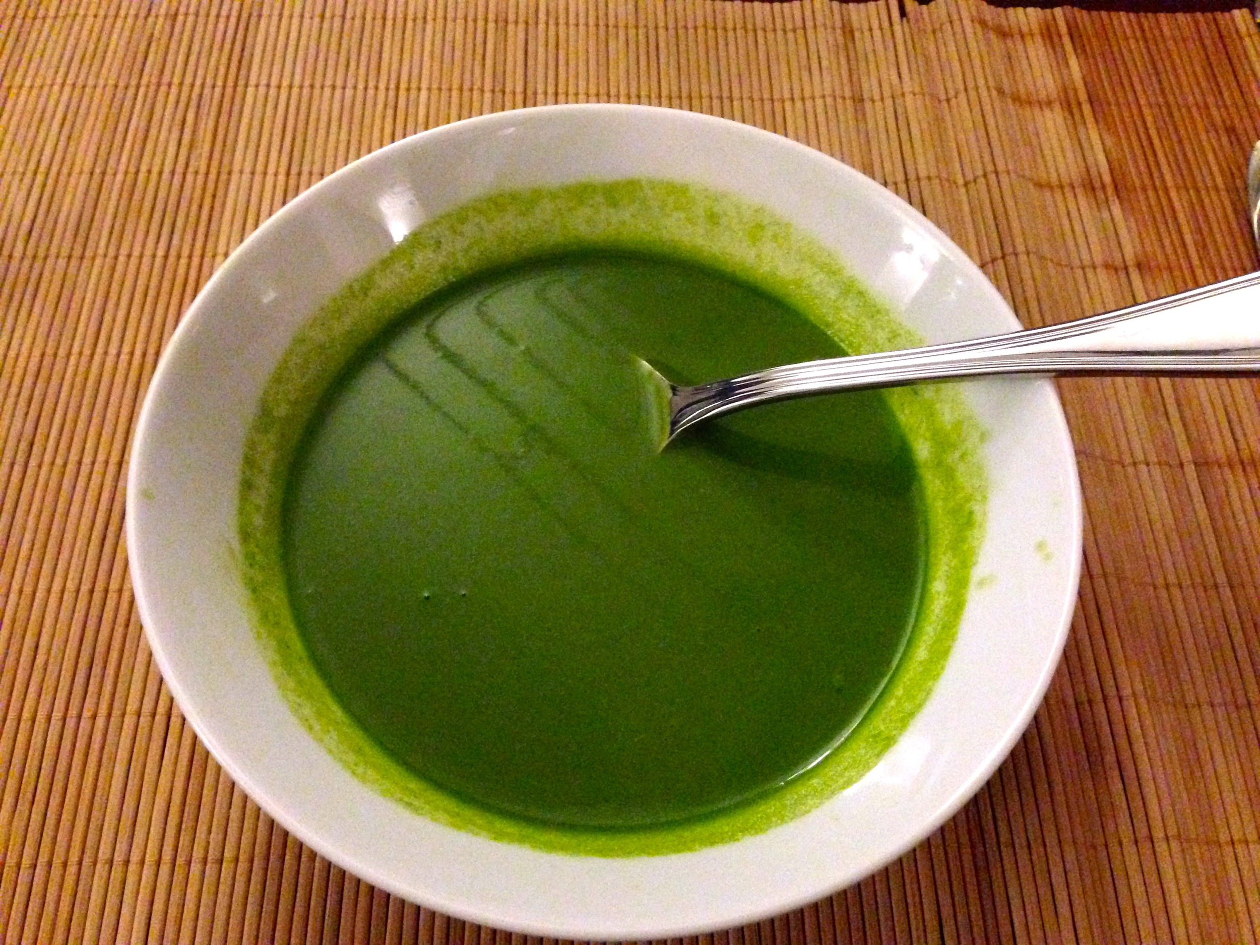 Green soup in Tangalle
