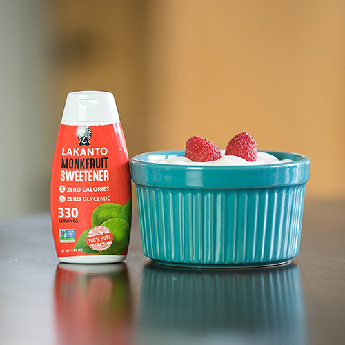 Lakanto Liquid Monkfruit Sweetener - Monk fruit is a natural, plant-based, fructose-free, zero-calorie sweetener that does not elevate blood sugar or insulin. Unlike stevia, is has no bitter aftertaste and can be used to gently sweeten coffee, tea, etc. Five drops is all you need!