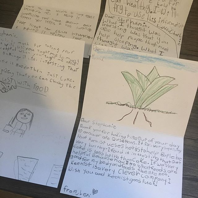 Could these be any cuter? 🥰 Thank you notes from four second graders who came to my office for a chat about the science of nutrition and how sugar affects the body. Their questions were awesome and I was so happy to help them learn about what foods are good for their little growing bodies!