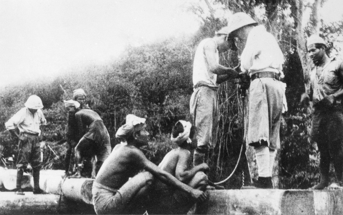 Labourers from Malaya on the Burma-Thailand railway in 1942, Photo courtesy: Kevin Blackburn and Australian War Memorial, Canberra