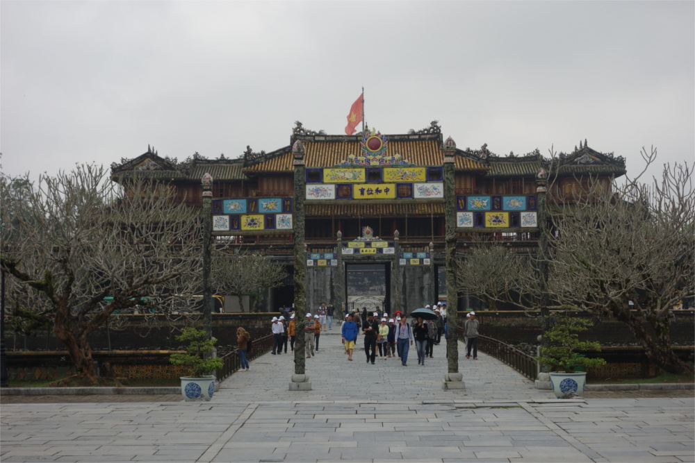 Hue was the imperial capital of the Nguyen dynasty. The imperial city, surrounded by a wall of 2 Km by 2 Km, is a fortress, consisting of the palace, temples, gardens and tombs.
