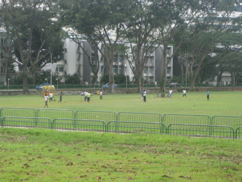 A play in the park   Not everyone skipped Little India this weekend. Few foreign workers who work in nearby areas chose to unwind with an afternoon match of Cricket.