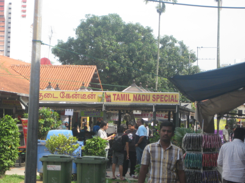 A canteen in Little India, famous for being frequented by foreign workers on weekends