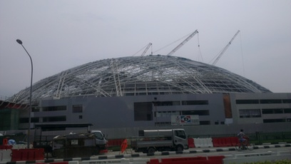 New sports hub in construction to be ready by 2015 for hosting the 28th SEA Games