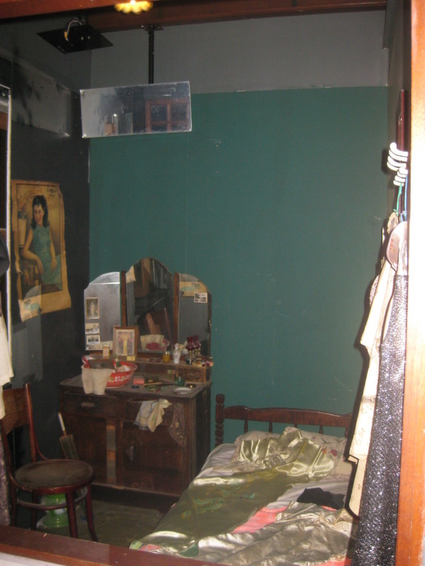 A display at the Chinese Heritage Centre in Chinatown, Singapore, depicting the room of a prostitute in colonial Singapore