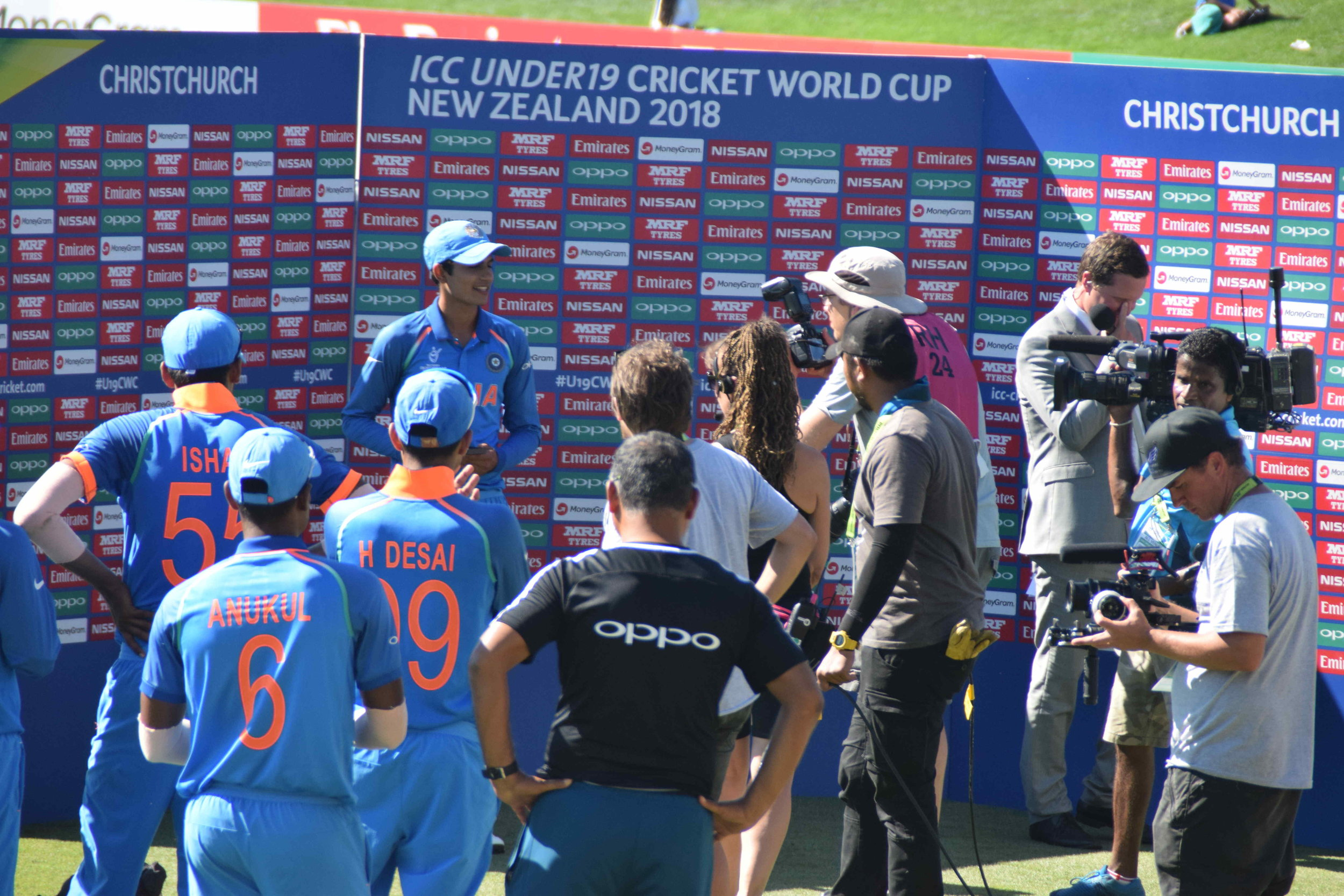 The Man-of-the-match and man-of-the-moment, Shubman Gill who scored an unbeaten 102, as India posted a formidable 272 in the semi-final