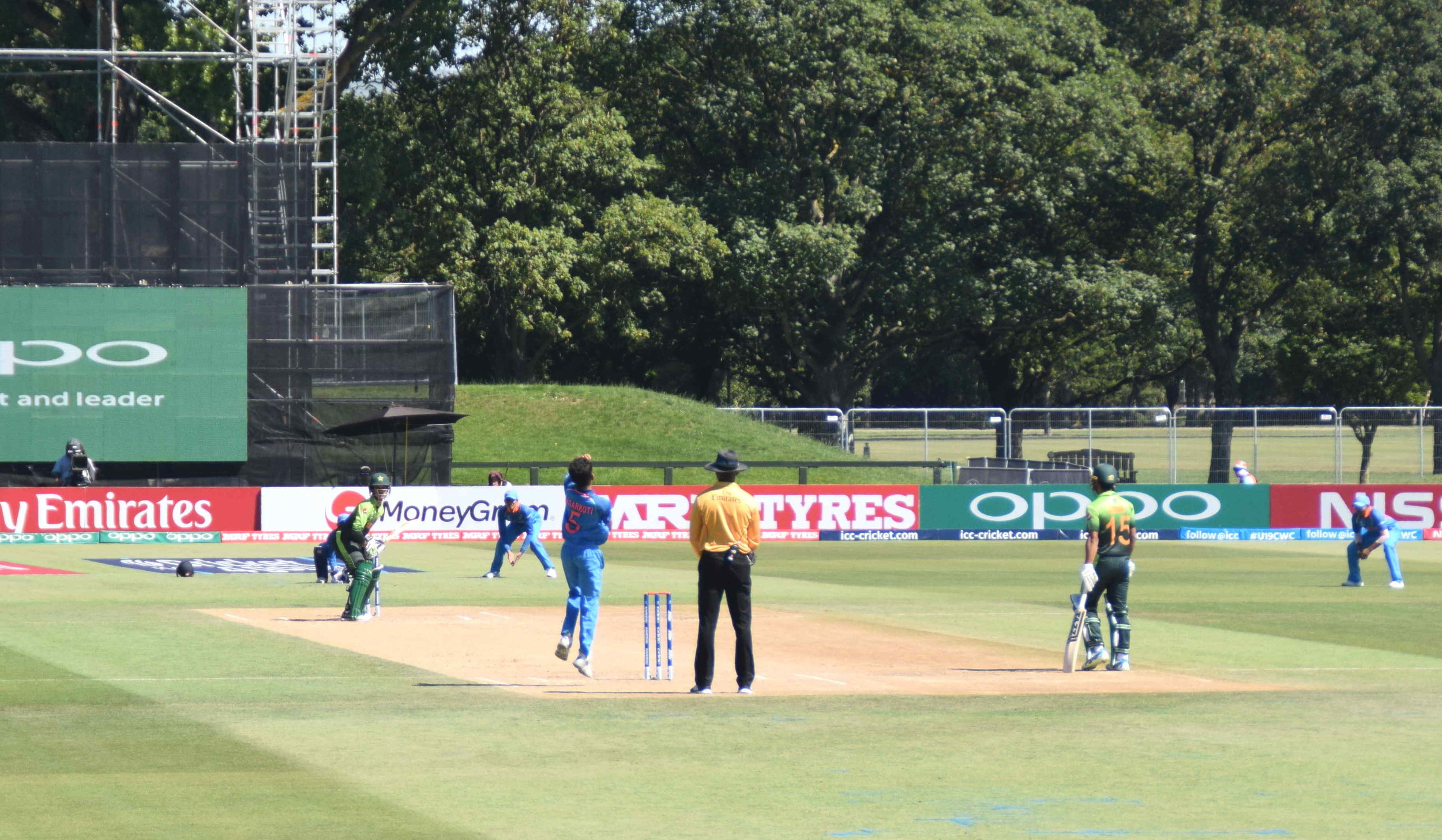 India showed the strength of their bowling line-up; here's pacer KL Nagarkoti clocking 140 kmph