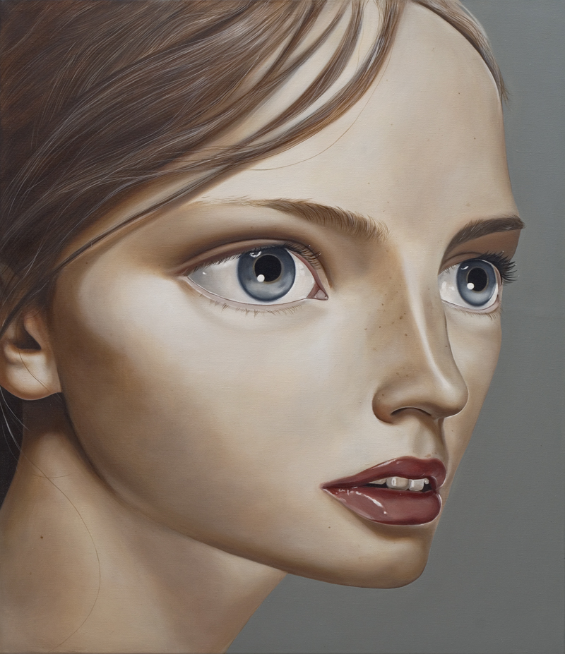 Rebecca, 2000 Acrylic on linen 19 11⁄16 inches x 23 5⁄8 in (50 x 60 cm)