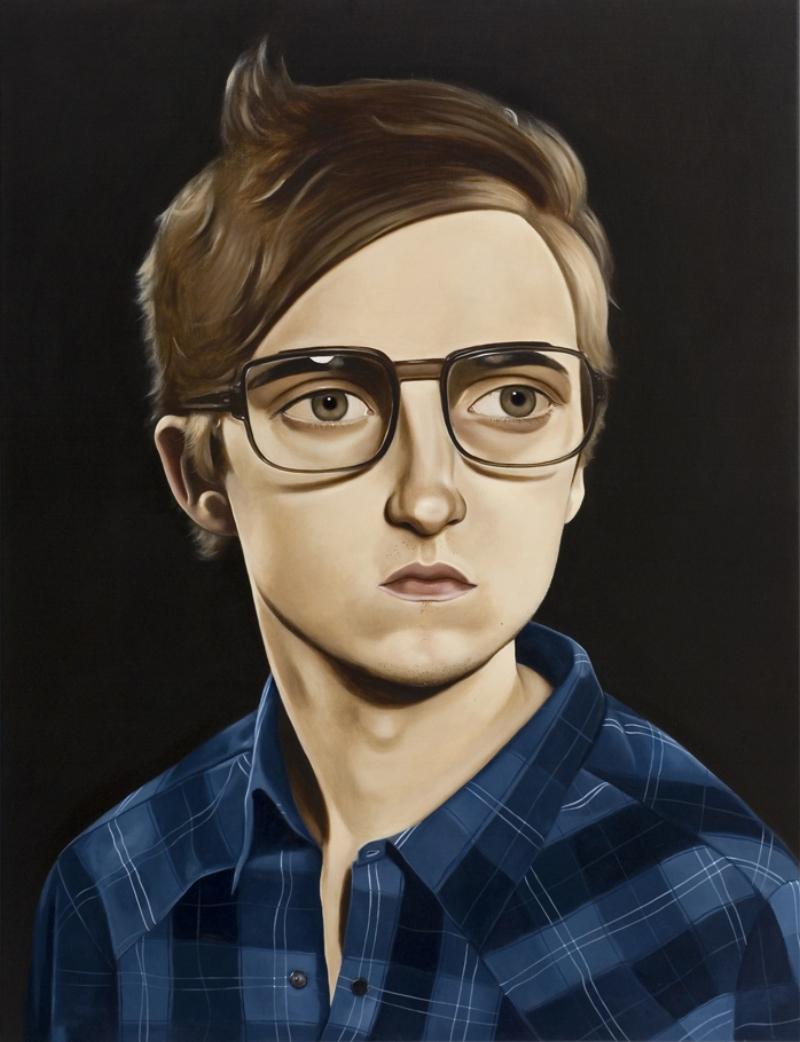 Zach Klein, 2008 Acrylic on linen 39.4 x 31.5 inches