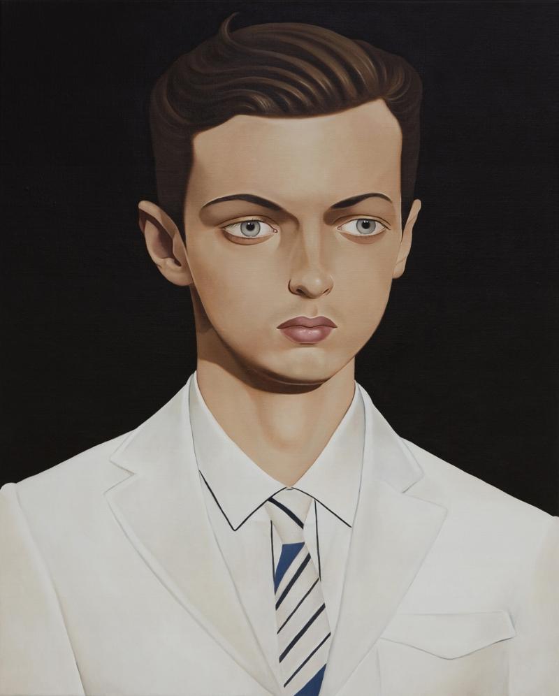 Daniel Roche, 2011 Acrylic on linen 39.4 x 31.5 inches