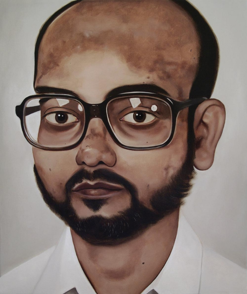 Dr Kundu, 2009 Acrylic on linen 30 x 35.5 cm
