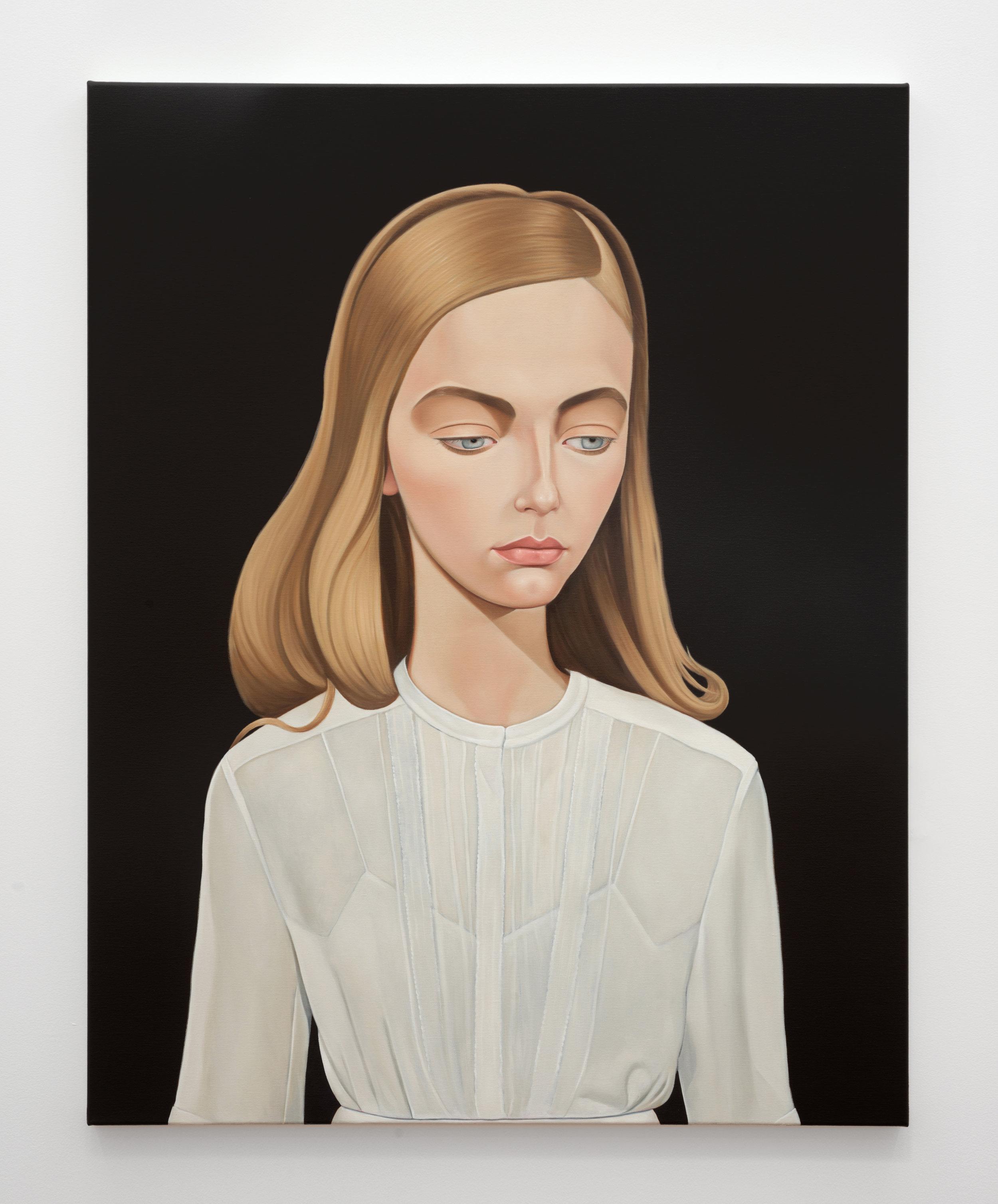 'Pam Reynolds, NDE/OBE, 1991' 2018 Oil on linen 95 x 120 cm