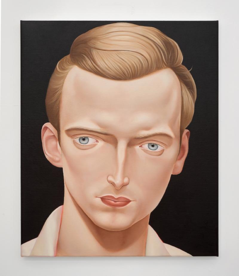'Dr Eben Alexander, NDE, 2008'  2018 Oil on linen 50 x 60 cm