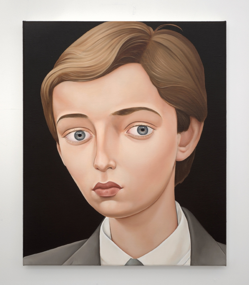 'The Reincarnation of Cameron Macauley: The Island of Barra (Barron Trump)'  2018 Oil on linen 50 x 60 cm