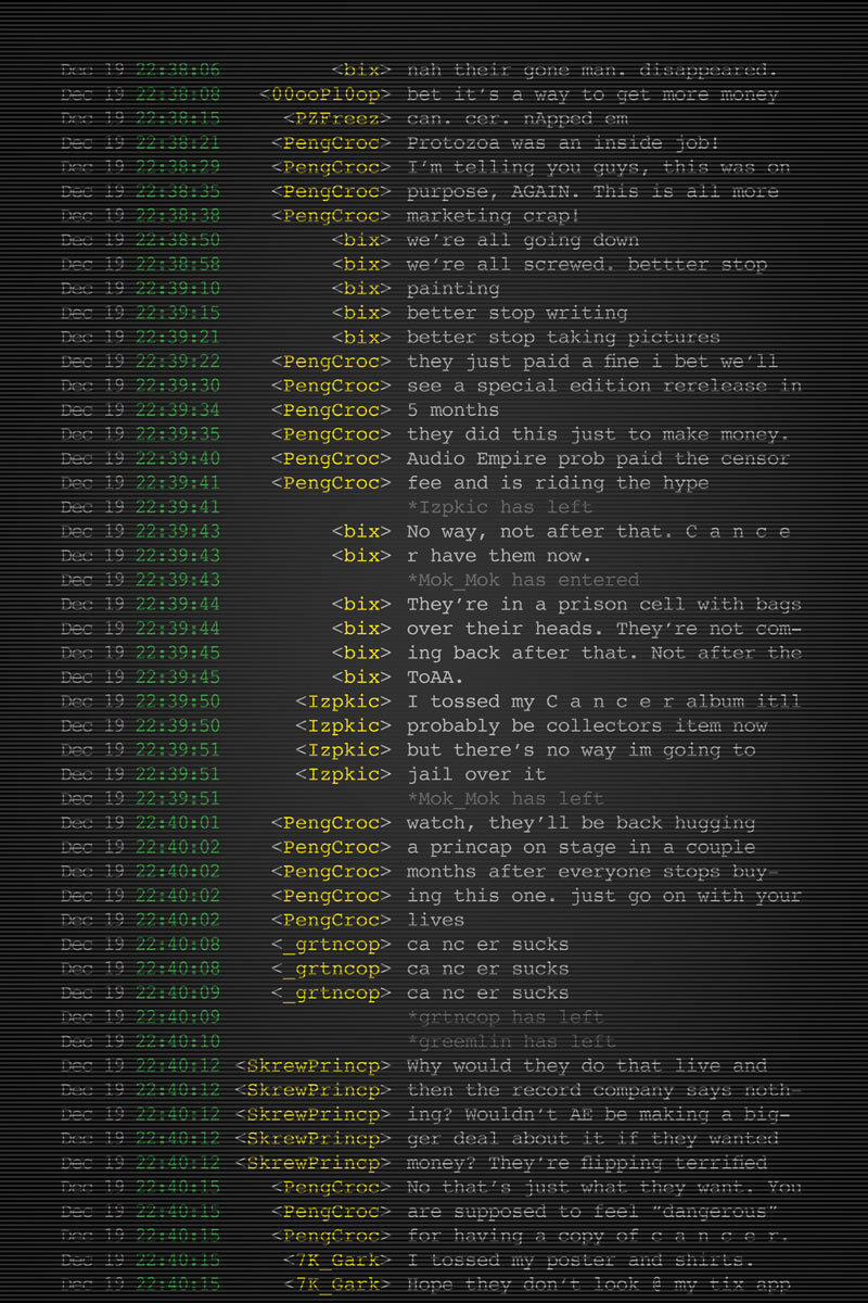 World-building included fictional IRC chats to help give hints at the larger story.