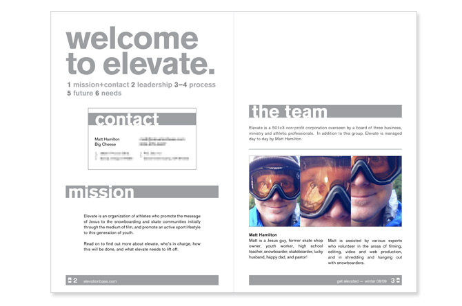 Spreads from a pitch document given to potential investors.