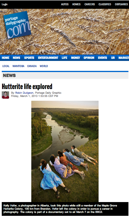 Hutterite life explored   Portage Daily Graphic.png