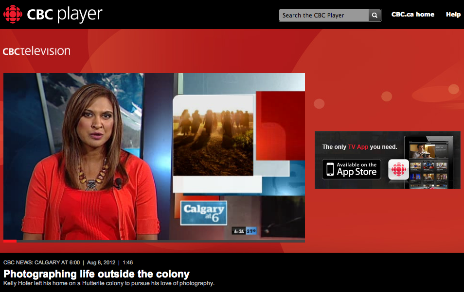 Photographing life outside the colony - CBC News  Calgary at 6 00 - CBC Player.png
