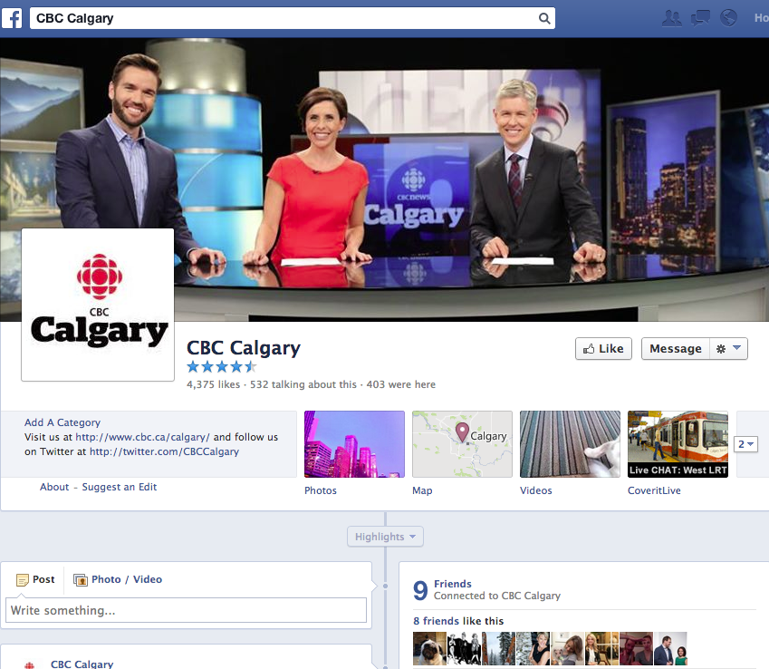 I shot all the photos on the CBC tv set