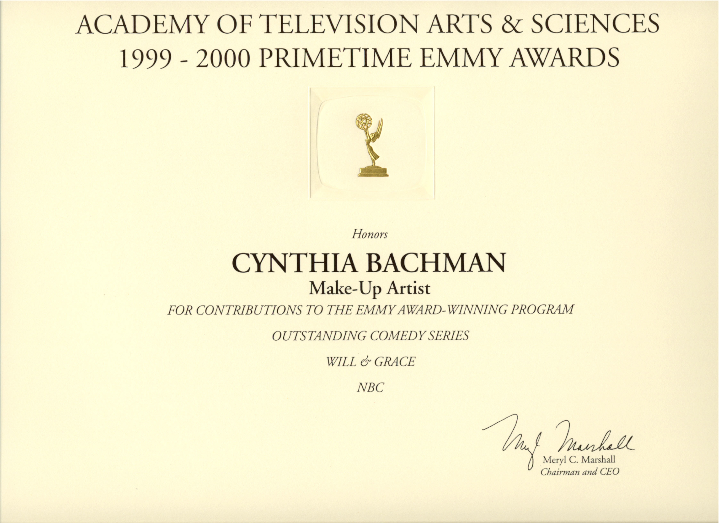 Emmy for Will & Grace.jpg