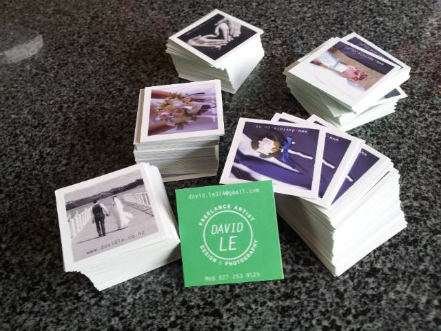My new business cards, you can have one if you want :-)