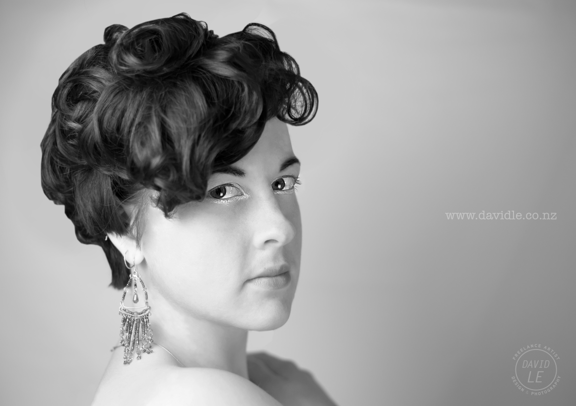 My smoking wife as a hair model, wow weee!