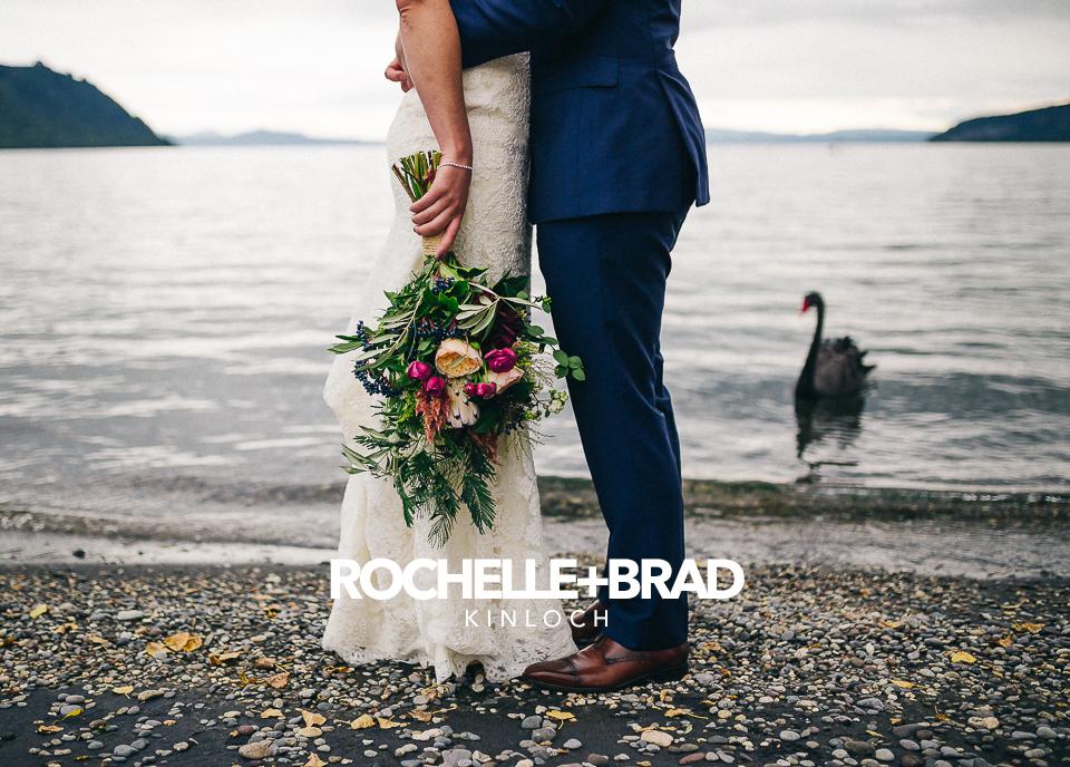 Rochelle + Brad's intimate wedding in Kinloch.