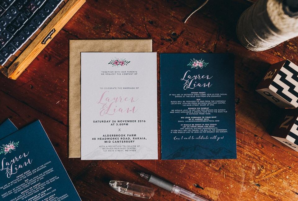 Wedding stationery designed by me!