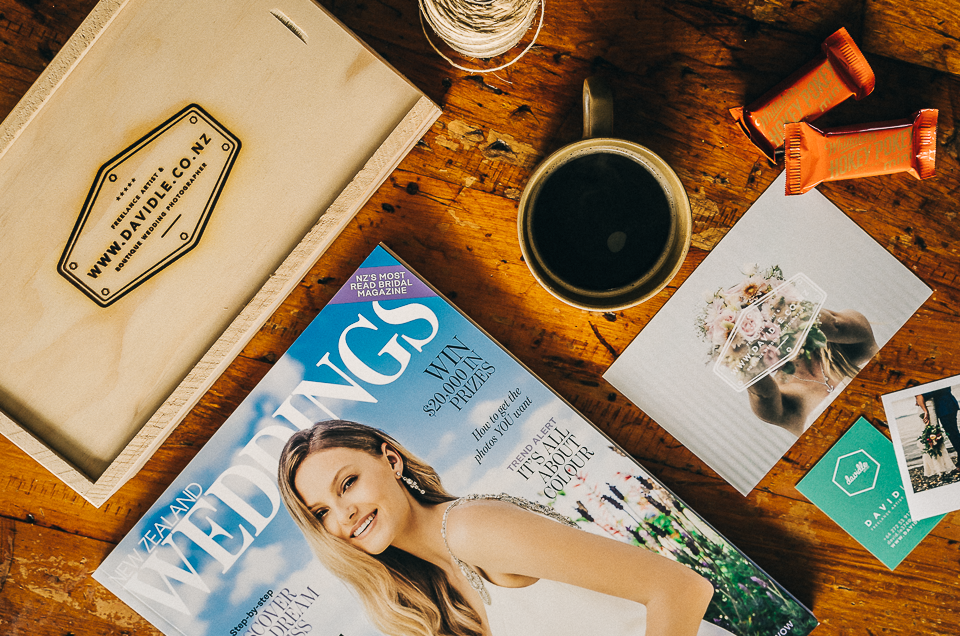 Sarah + Neth's wedding hled at the Milk Station is featured in the latest issue on NZ Wedding Magazine