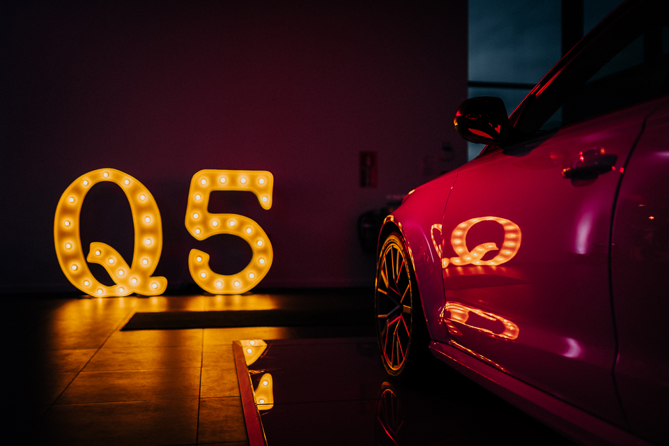 Audi Q5 vehcile launch night