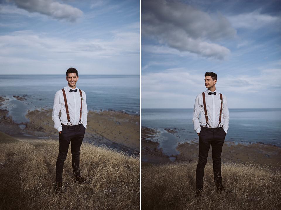 Cliff top elopement