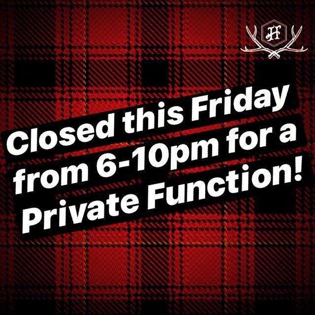 We will be CLOSED to the public this Friday from 6-10pm for a EOFY Par-tay! Apologies for any inconvenience! Open as usual for lunch and a quick knock off if your in and ooot before 5:30!! Back open to the public from 10:30pm TIL late.....