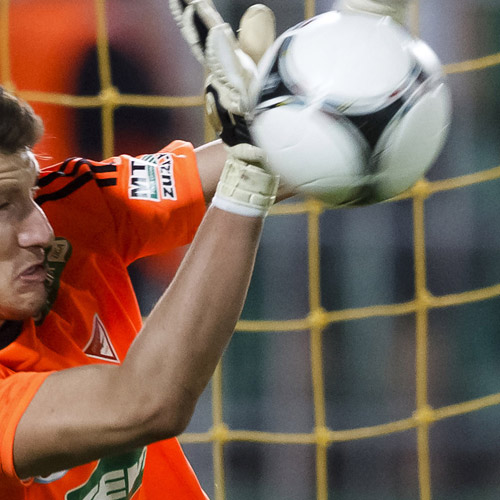 FOOTBALL - Goal keepers require strong wrists.