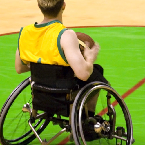 WHEELCHAIR SPORTS - Your grip is worked extra hard.