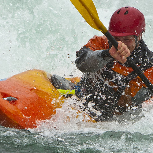 KAYAKING - Grip on your oar is crucial.