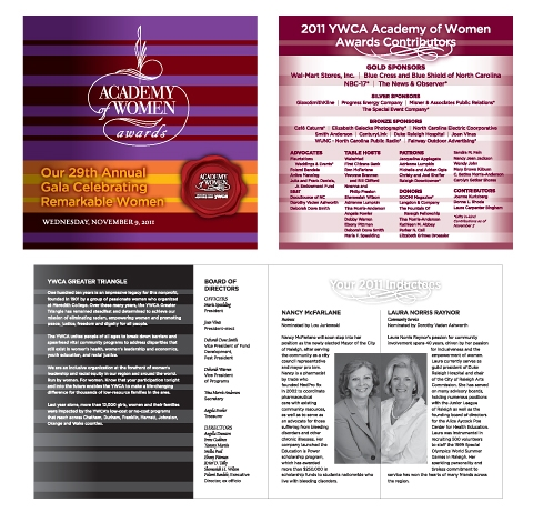Academy of Women Awards Program