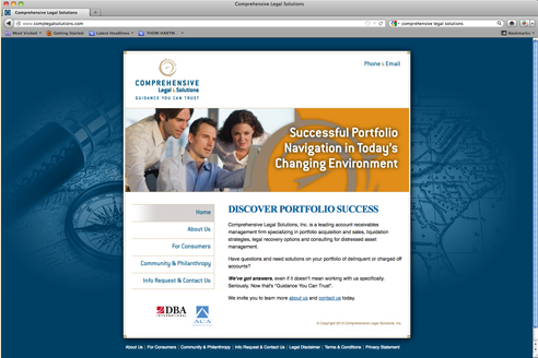 Comprehensive Legal Solutions Website