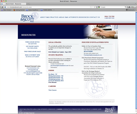 Brock & Scott Website