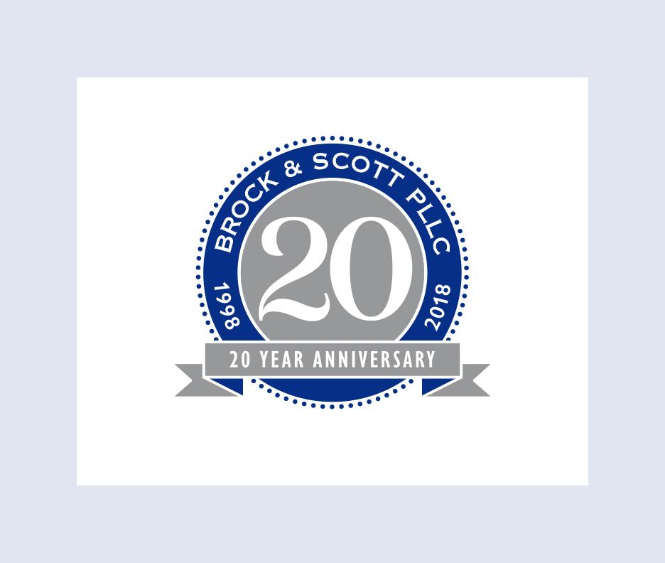 Brock & Scott PLLC 20th Anniversary Logo