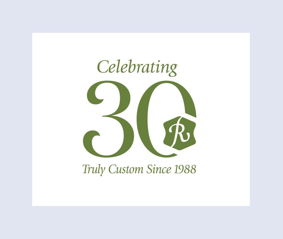 Rufty Homes 30th Anniversary Logo